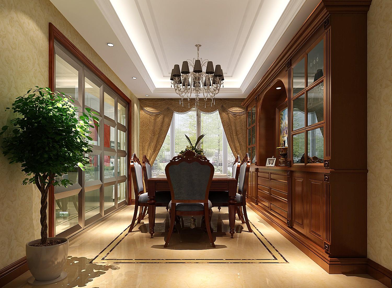 欧式新古典 三居 餐厅图片来自高度国际装饰设计集团凌军在中景未山赋184平米欧式新古典的分享