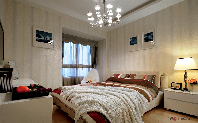 现代 几虐 三居 温馨 舒适 卧室图片来自朗润装饰工程有限公司在世茂玉锦湾-现代经典主义的分享