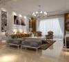 欧式风格强调以华丽的装饰、浓烈的色彩、精美的造型达到华贵的装饰效果。欧式客厅顶部用大型灯池,并用华丽的枝形吊灯营造气氛。门窗上半部做成弧形,并用带有花纹的石膏线勾边,室内则有壁灯造型。