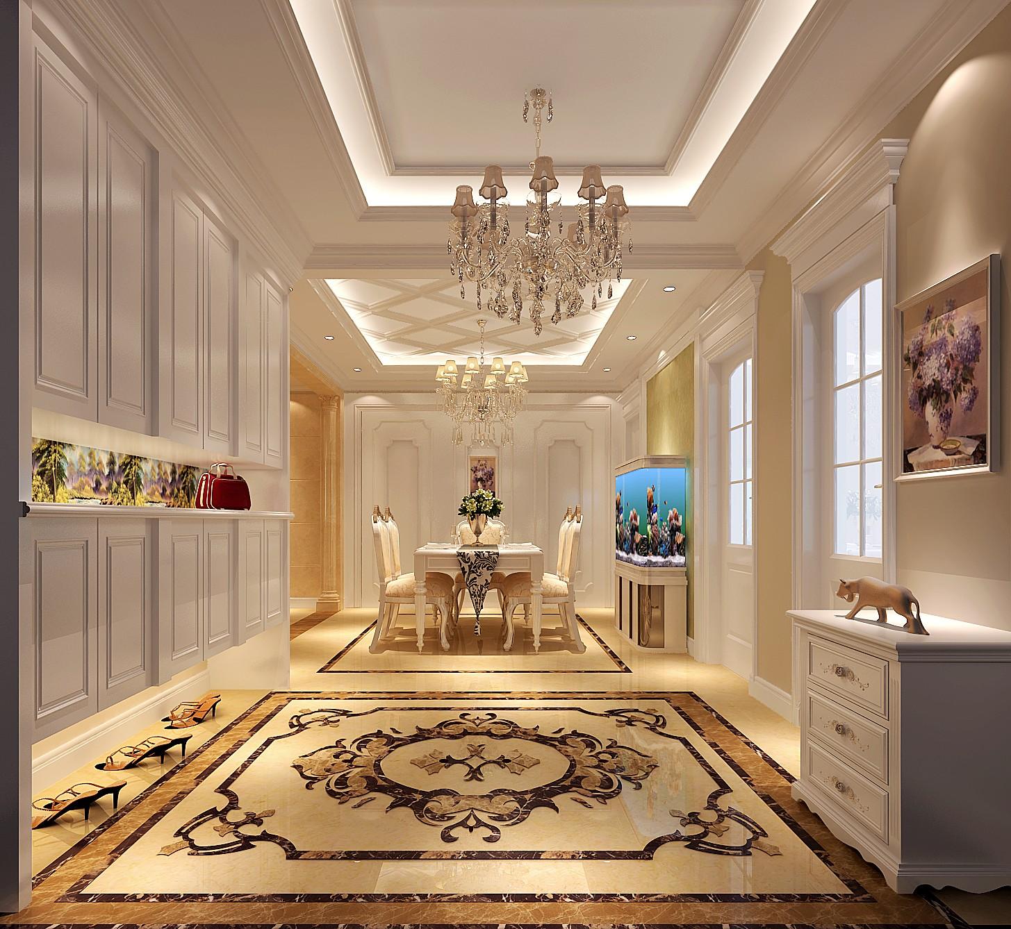 欧式 三居 餐厅图片来自高度国际装饰设计集团凌军在中景未山赋130平米欧式风格的分享