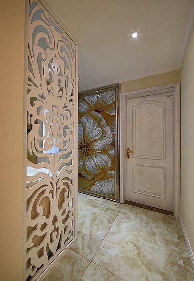 客厅图片来自家装大管家在蓝白舒适空间 125平简欧淡雅3居的分享