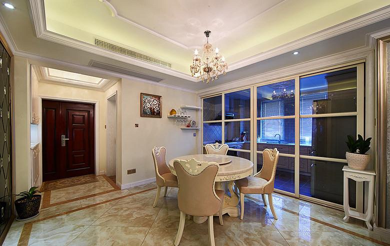 餐厅图片来自家装大管家在蓝白舒适空间 125平简欧淡雅3居的分享