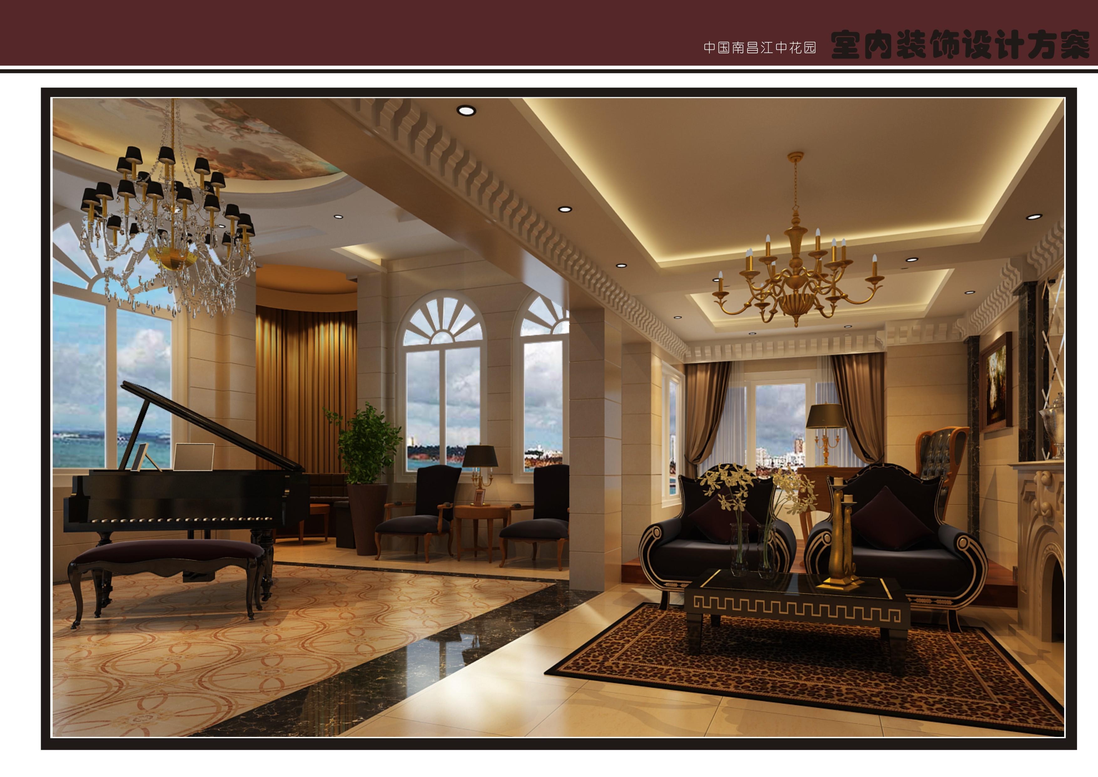 欧式 别墅 客厅图片来自许剑飞在江中花园欧式设计案例的分享