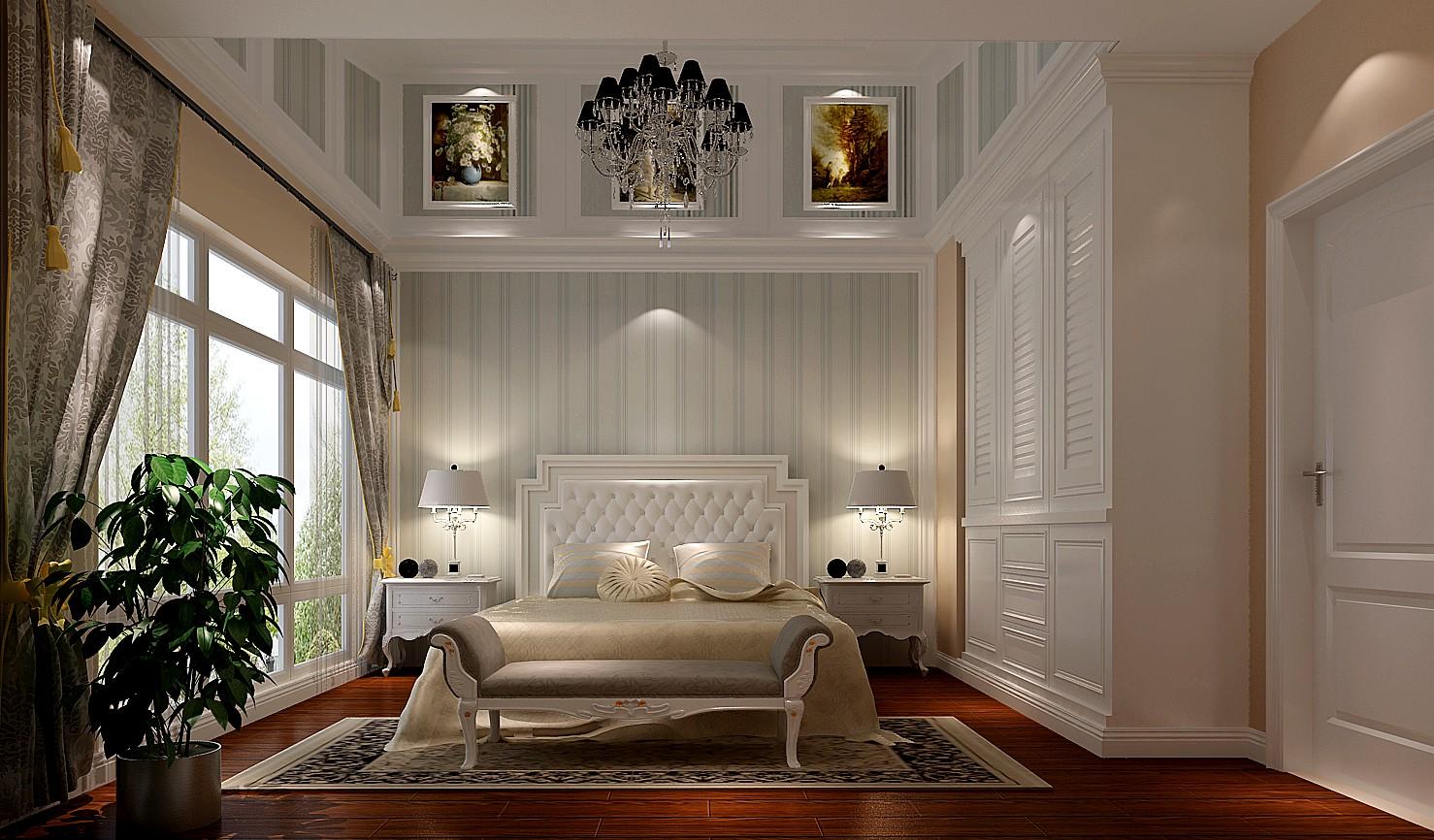欧式 别墅 卧室图片来自高度国际装饰设计集团凌军在中粮祥云386平米欧式风格的分享