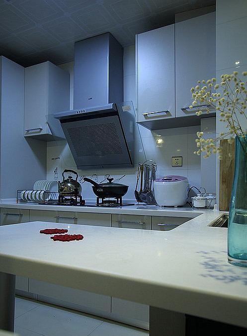 厨房图片来自佰辰生活装饰在86方小清新简欧风格的分享