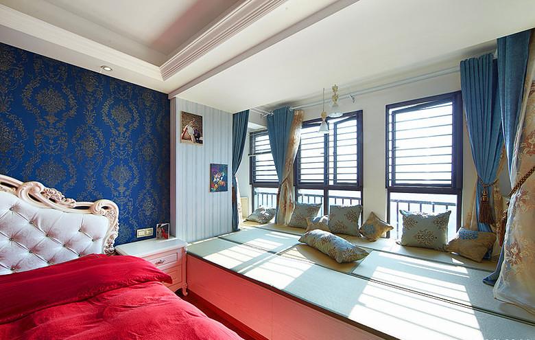 卧室图片来自家装大管家在蓝白舒适空间 125平简欧淡雅3居的分享