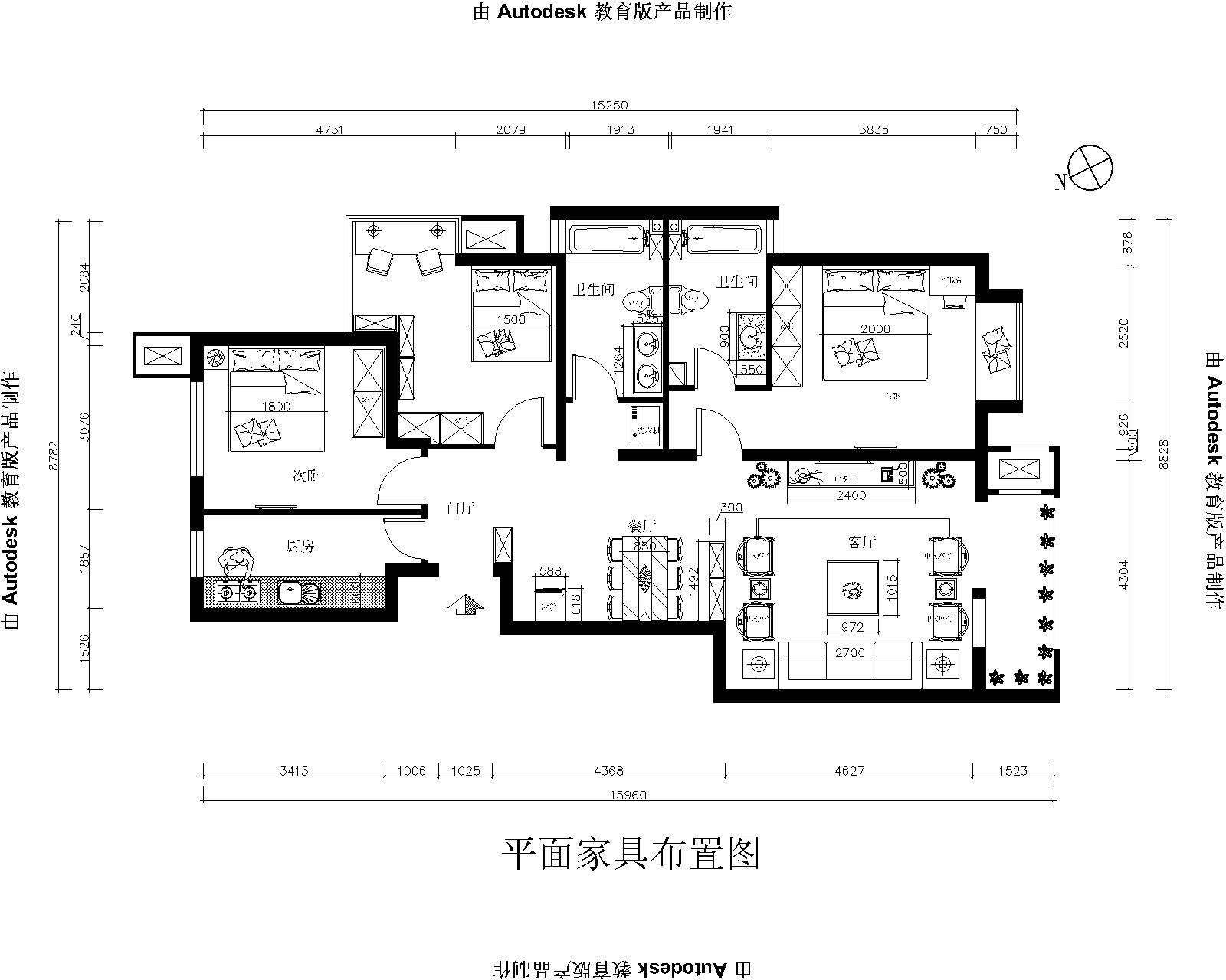 简约 三居 白领 收纳 80后 小资 户型图图片来自实创装饰百灵在北京风景中式风格130平米装修的分享