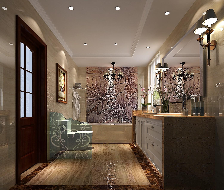 欧式新古典 三居 卫生间图片来自高度国际装饰设计集团凌军在中景未山赋184平米欧式新古典的分享