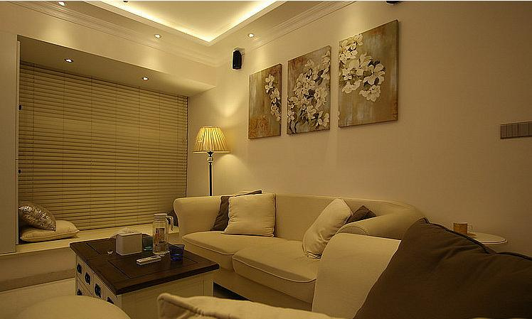 客厅图片来自佰辰生活装饰在86方小清新简欧风格的分享