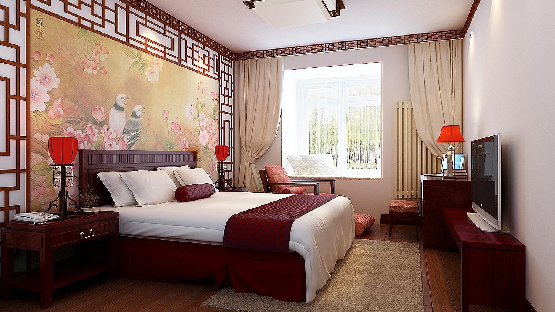 简约 三居 白领 收纳 80后 小资 卧室图片来自实创装饰百灵在北京风景中式风格130平米装修的分享