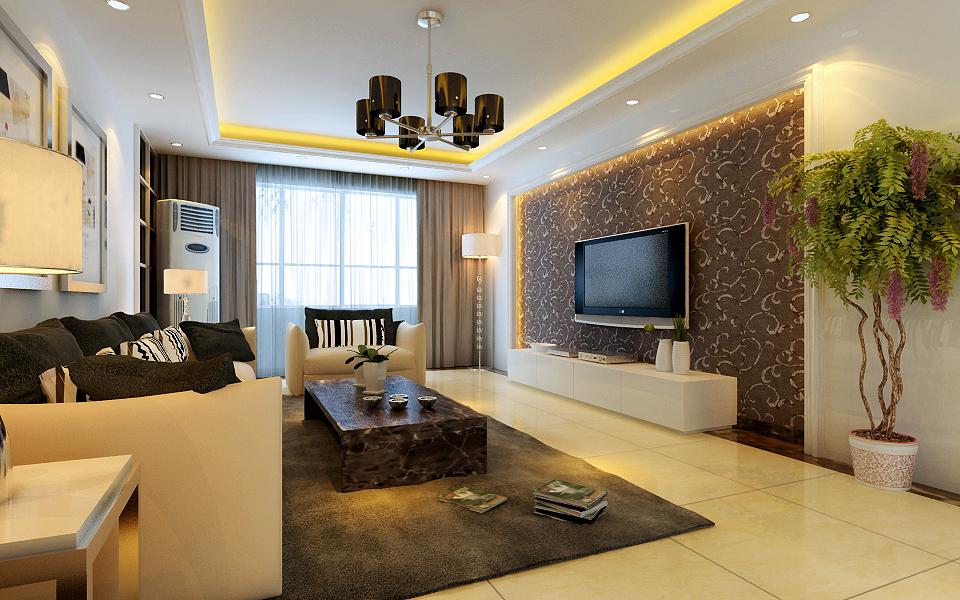 简约 三居 白领 收纳 80后 小资 客厅图片来自实创装饰百灵在大气、明快、简洁装修北京风景的分享