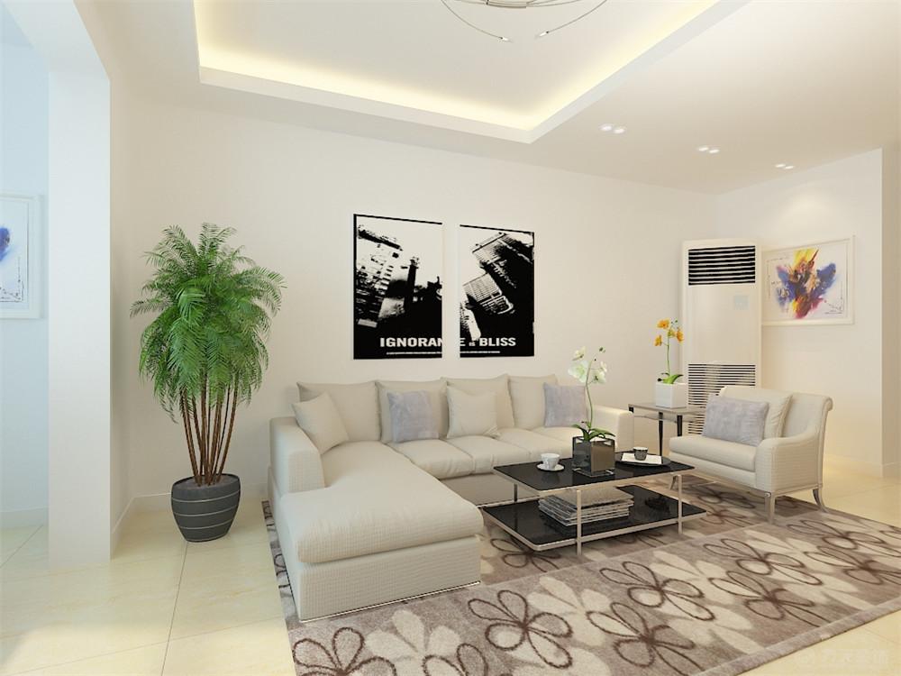 现代 三居 白领 收纳 80后 小资 客厅图片来自阳光力天装饰在力天装饰-美克嘉美湾121 ㎡的分享