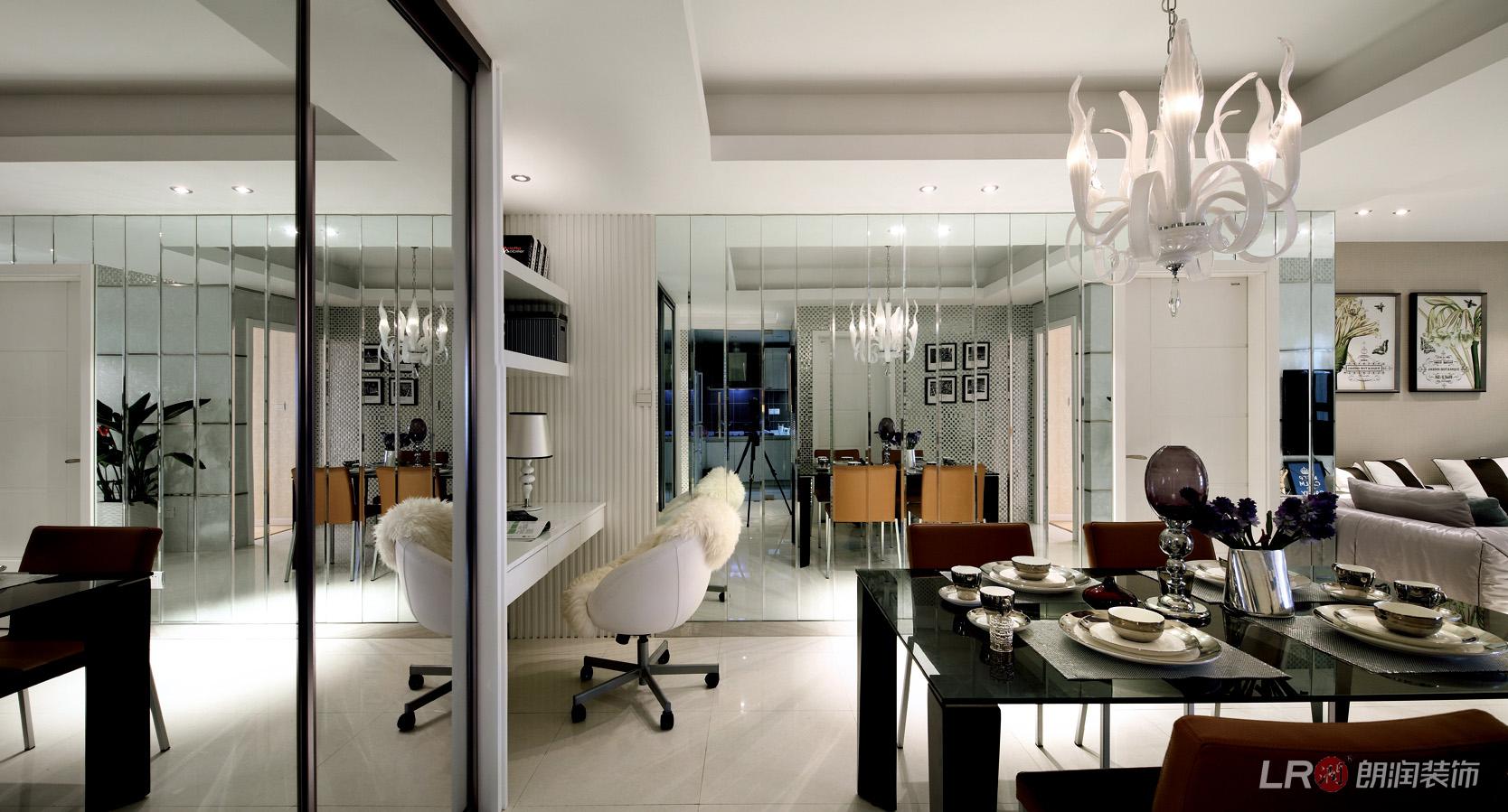 现代 几虐 三居 温馨 舒适 餐厅图片来自朗润装饰工程有限公司在世茂玉锦湾-现代经典主义的分享