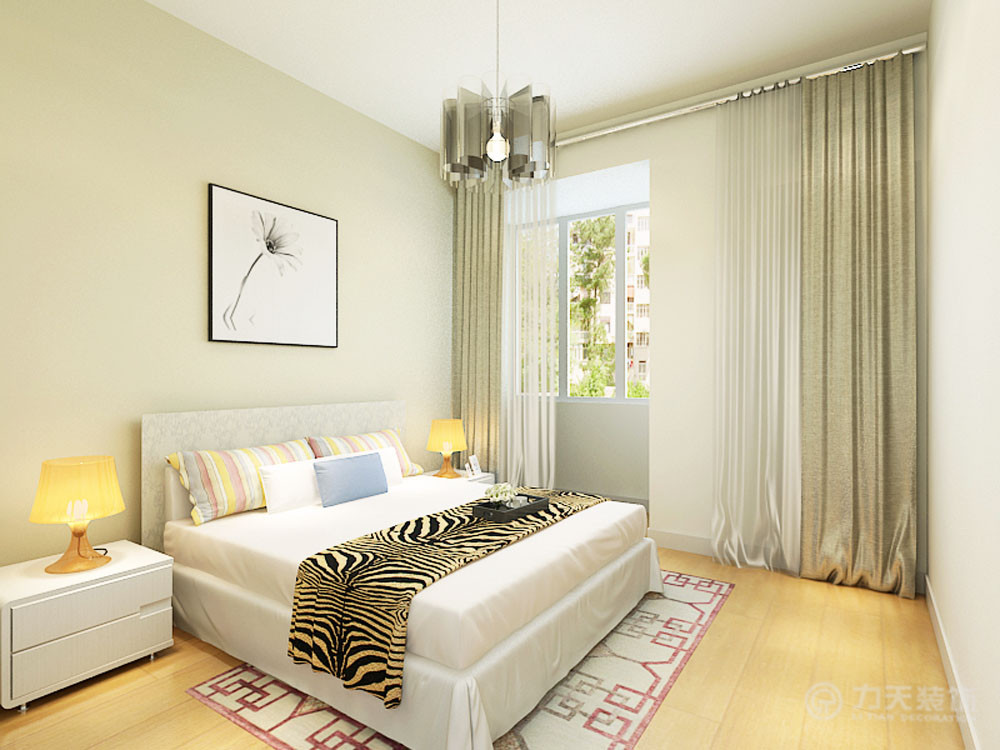 简约 四居 白领 收纳 80后 小资 卧室图片来自阳光力天装饰在力天装饰-大港江德园104㎡的分享