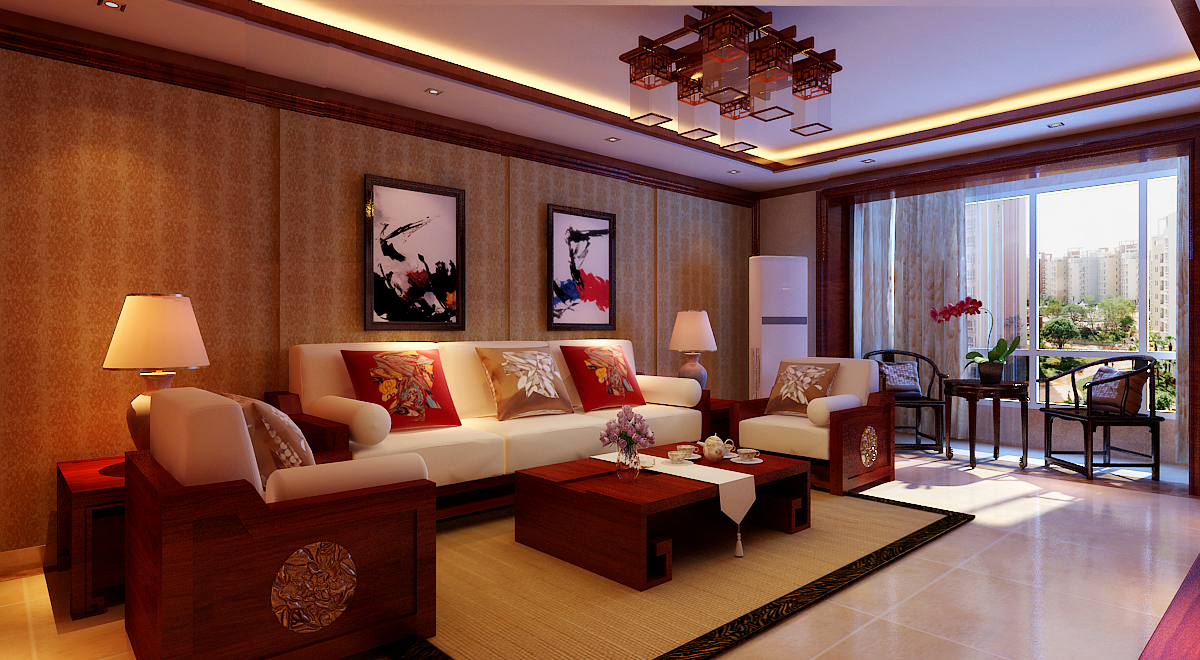 简约 三居 白领 收纳 80后 小资 客厅图片来自实创装饰百灵在北京风景中式风格130平米装修的分享