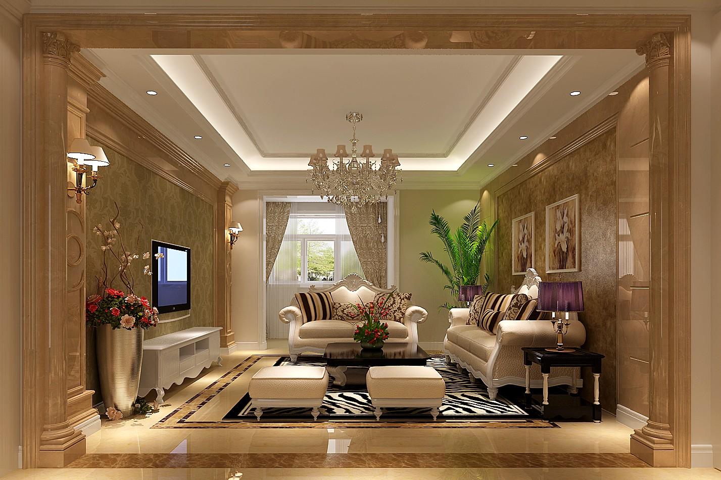欧式 三居 客厅图片来自高度国际装饰设计集团凌军在中景未山赋130平米欧式风格的分享
