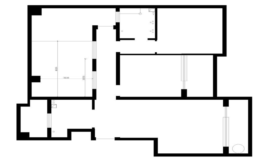 简约 金辉悦府 三居 户型图图片来自实创小莹在【实创装饰】硬朗居室,不失温馨的分享