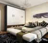 主卧的颜色与客厅颜色相近,整体采用大地色,给人温馨舒适的感觉。造型简单的床和柜子,是现代简约风格的不二选择。浅色的家具,增加了整个空间的亮度。