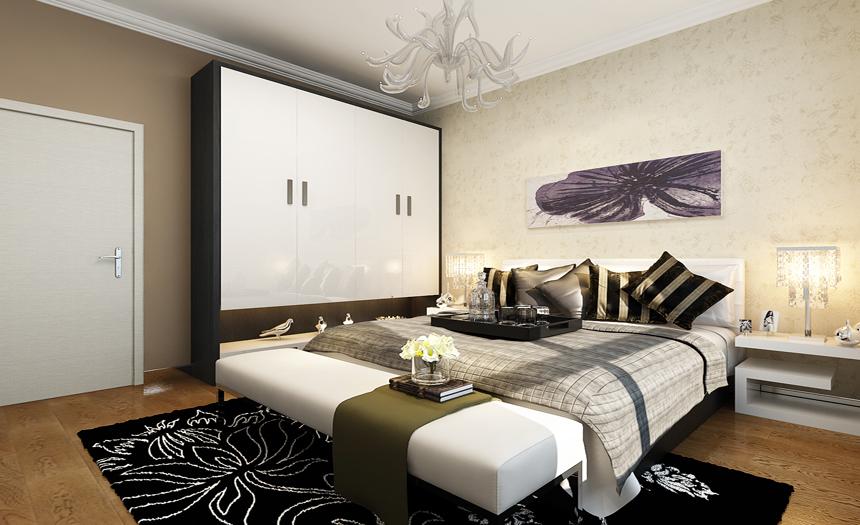 简约 金辉悦府 三居 卧室 卧室图片来自实创小莹在【实创装饰】硬朗居室,不失温馨的分享