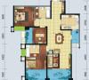 世茂玉锦湾  10号楼标准层  A-2C户型    3室2厅2卫1厨 127.20㎡