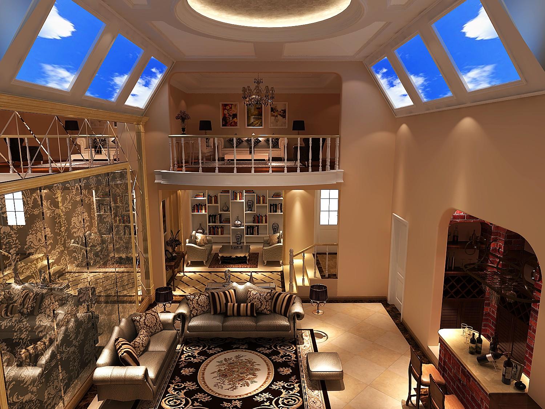 欧式 别墅 客厅图片来自高度国际装饰设计集团凌军在中粮祥云386平米欧式风格的分享