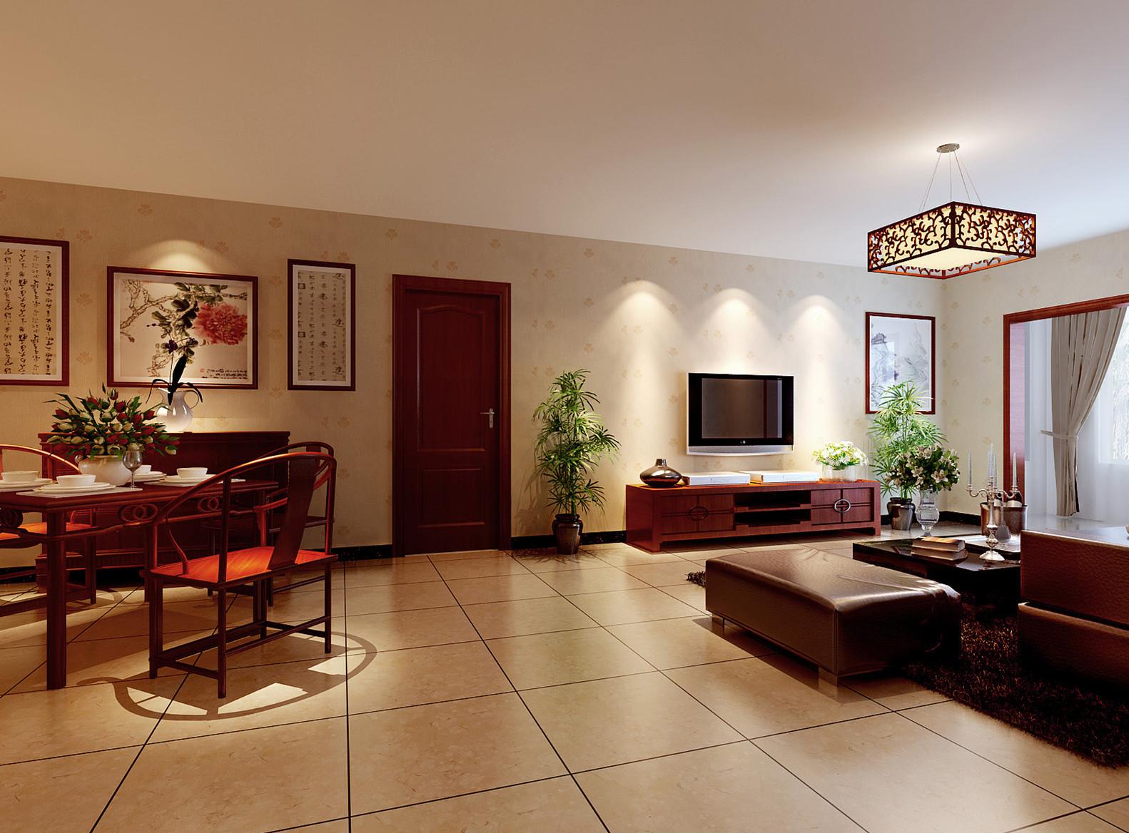三居 白领 收纳 80后 小资 客厅图片来自实创装饰完美家装在胜古北里简约中式160平案例赏析的分享
