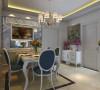 这套户型我为其设计的简欧风格,其客厅开间比较大,卧室空间富裕,比较适合简欧风格。