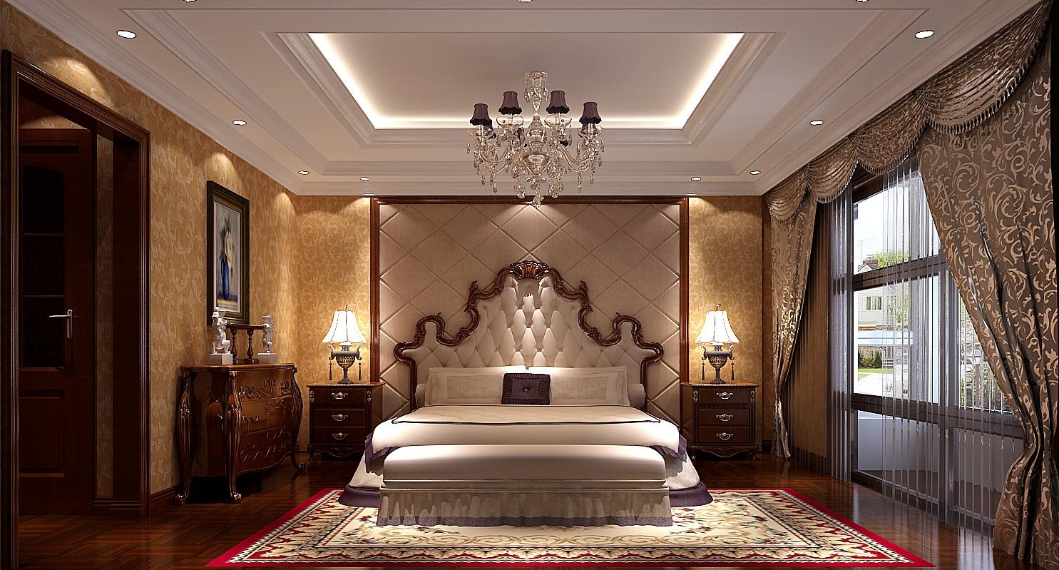 欧式新古典 三居 卧室图片来自高度国际装饰设计集团凌军在中景未山赋184平米欧式新古典的分享