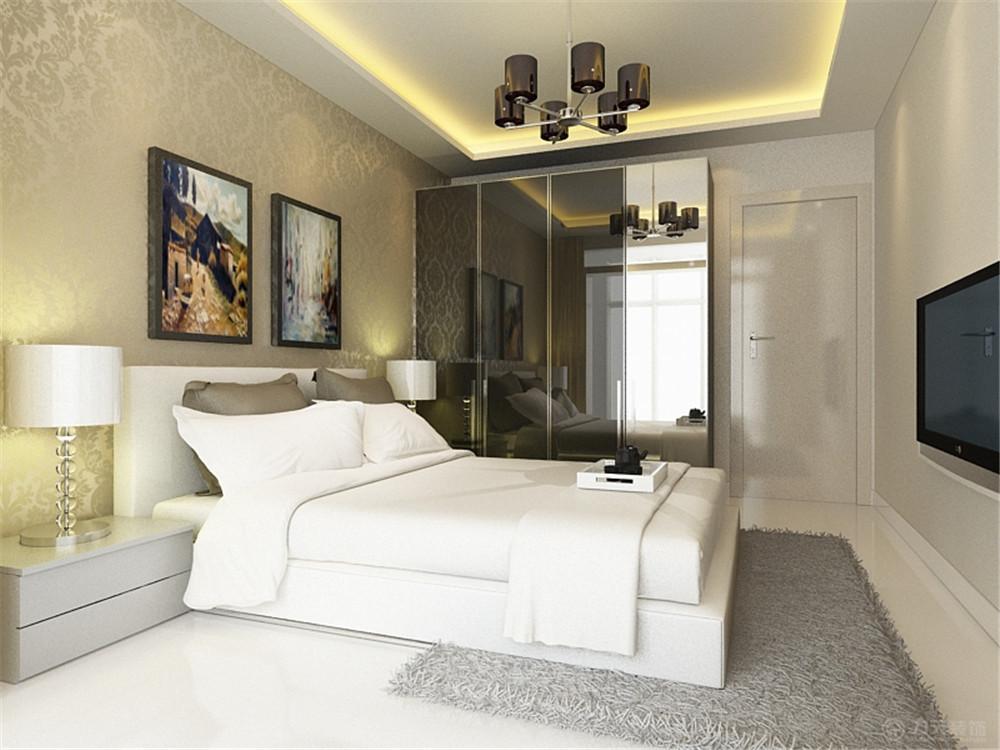 现代 三居 白领 收纳 80后 小资 卧室图片来自阳光力天装饰在力天装饰-美克嘉美湾121 ㎡的分享