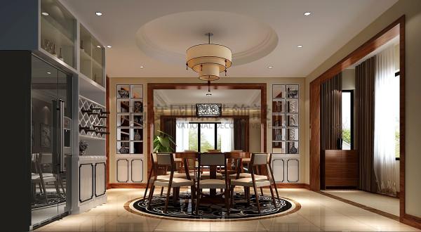 龙湖悠山郡—280㎡—新中式风格 成都高度国际装饰 餐厅