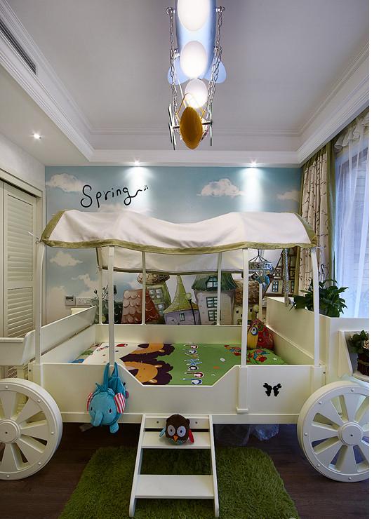 儿童房图片来自家装大管家在如梦似幻 89平美式混搭时尚居的分享