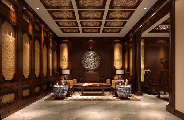 龙湖世纪峰景—180—中式简欧混搭 成都高度国际装饰 书房