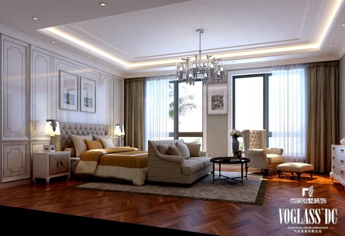别墅装修 别墅设计 装修设计 软装配饰 尚层装饰 卧室图片来自北京别墅装饰在上林世家 畅想新古典的分享