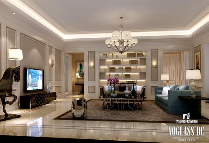 别墅装修 别墅设计 装修设计 软装配饰 尚层装饰 客厅图片来自北京别墅装饰在上林世家 畅想新古典的分享