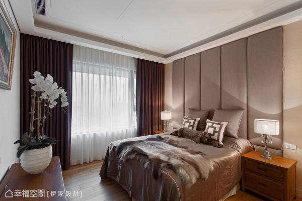 透过质材的运用与软件等配置,让睡眠空间舒适简洁,并以实木柜及斗柜的表现,注入悠然的日式禅意。
