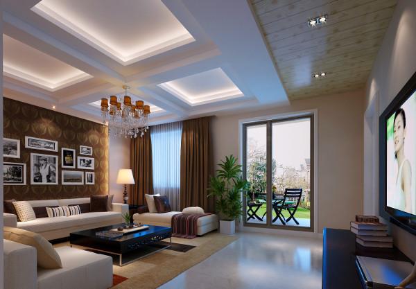 在整体设计布局上,有着精简、时尚的格调,也有着简 洁和纯净之感。在色彩上则以偏暖色调为主。环视客厅,深色的 背景墙和浅色系的沙发,暖色的吊顶和原木色的桑拿板蕴含着优 雅别致的情怀。