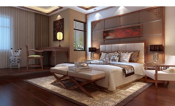 装饰材料以木材为主,居室在色彩方面秉承了传统古典风格的典雅和华贵,整体布局搭配讲究对称统一,彰显中式设计的高雅大气、气势恢弘,软装配饰更是复古典雅,彰显贵气。