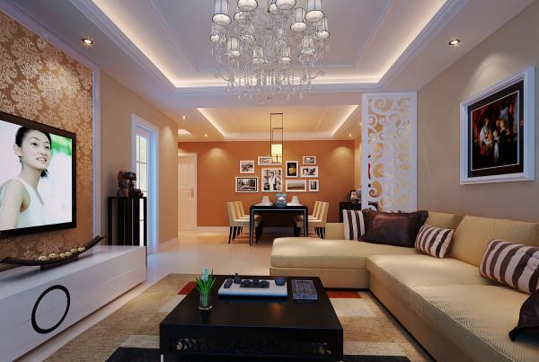 客厅旁有个半独立的空间,设计师用地台的方式巧妙的为其打造一个休闲,储物的空间,既满足使用空间又增加了视觉效果。