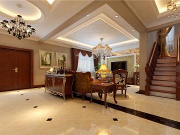 210平深色古典欧式混搭复式家