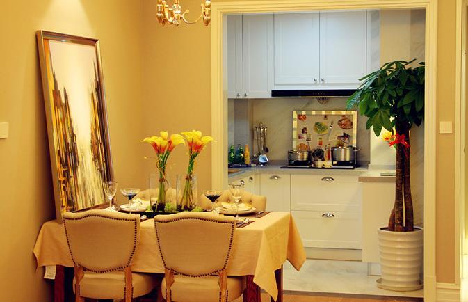 欧式 简约 三居 温馨 自然 餐厅图片来自佰辰生活装饰在106平北欧风情三居空间的分享