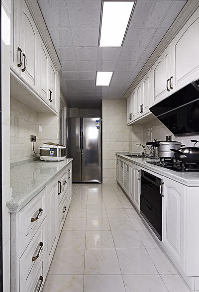 厨房图片来自家装大管家在136平现代简约风 温馨风情家居的分享