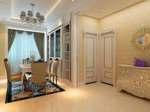 软包与壁纸的应用 有效的缓解了石材自身所带来的坚硬感,为房间增添了一笔温馨的色彩