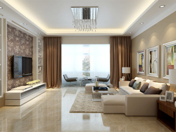 125平三口之家简约设计