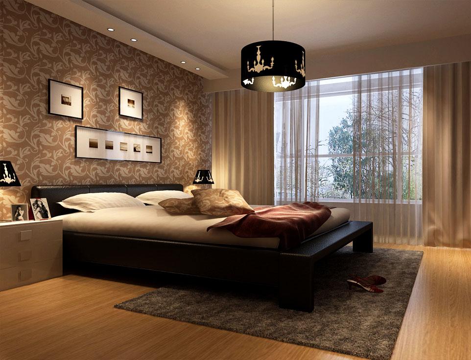中式 二居 白领 收纳 80后 卧室图片来自实创装饰百灵在舒适实用性装修90平米京铁和园的分享