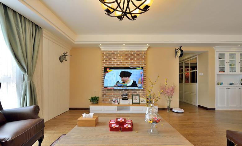 简约 三居 美式 混搭 白领 收纳 80后 小资 客厅图片来自尚品老木匠装饰在华润二十四城-美式混搭的分享