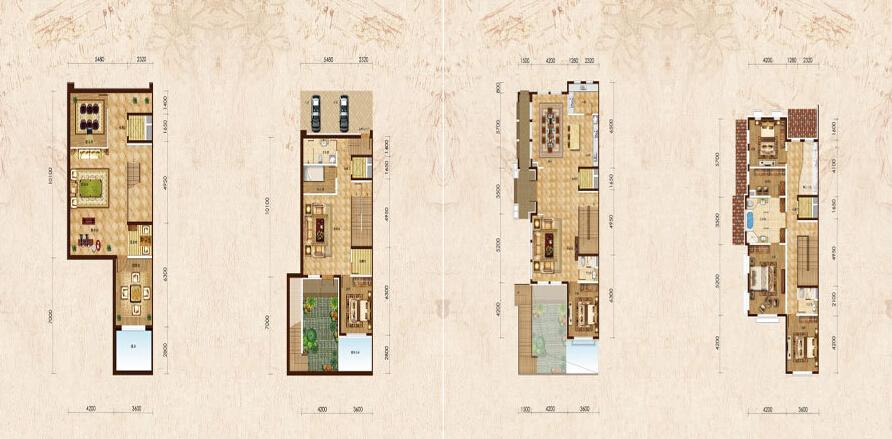 别墅设计 新古典 户型图图片来自紫禁尚品装饰孟莹在新古典风格远洋遨北二期的分享
