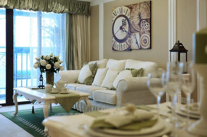 客厅图片来自今朝装饰小闫在英式田园风 打造恋爱的味道的分享