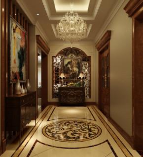 混搭 三世同堂 别墅装修 设计 温馨 舒适 玄关图片来自北京别墅装饰在保利垄上645平米混搭风的分享