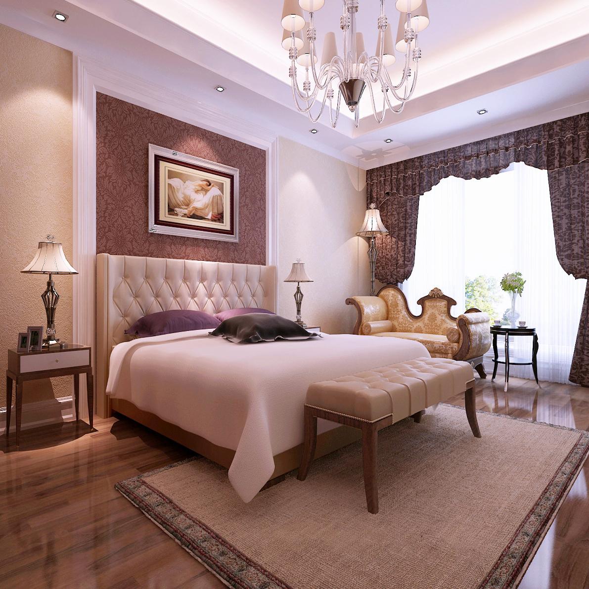 卧室图片来自山水人家装饰在曲江公馆典雅欧式别墅的分享