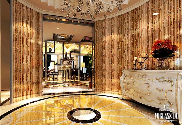 二手房 老房翻新 婚房 新古典 浪翻 温馨 大理石 木作 欧式 玄关图片来自北京别墅装饰在新古典主义的旧房翻新的分享
